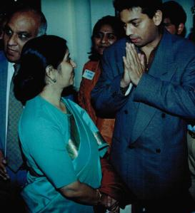Divan (Divyang) Dave Sushma Swaraj BJP,Member of Parliament India and Divan Dave