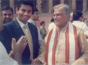 Divan (Divyang) Dave with Minister-Murlimanohar Joshi,Divan Dave andMurlimanohar Joshi